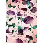 Spiral Eucalyptus Leaves Clover 3D Greeting Card (7x5) Inside