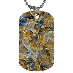Antique Anciently Gold Blue Vintage Design Dog Tag (two Sides) by designworld65