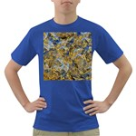 Antique Anciently Gold Blue Vintage Design Dark T-Shirt