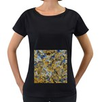 Antique Anciently Gold Blue Vintage Design Women s Loose-Fit T-Shirt (Black)