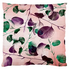 Spiral Eucalyptus Leaves Large Cushion Case (one Side) by DanaeStudio