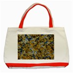 Antique Anciently Gold Blue Vintage Design Classic Tote Bag (Red)