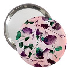 Spiral Eucalyptus Leaves 3  Handbag Mirrors by DanaeStudio