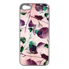Spiral Eucalyptus Leaves Apple Iphone 5 Case (silver) by DanaeStudio