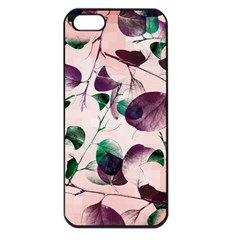 Spiral Eucalyptus Leaves Apple Iphone 5 Seamless Case (black) by DanaeStudio