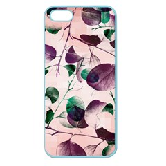 Spiral Eucalyptus Leaves Apple Seamless Iphone 5 Case (color)