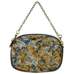 Antique Anciently Gold Blue Vintage Design Chain Purses (One Side)