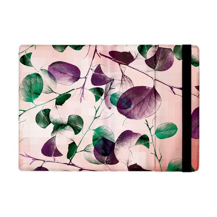 Spiral Eucalyptus Leaves Apple iPad Mini Flip Case