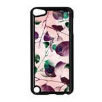 Spiral Eucalyptus Leaves Apple iPod Touch 5 Case (Black) Front