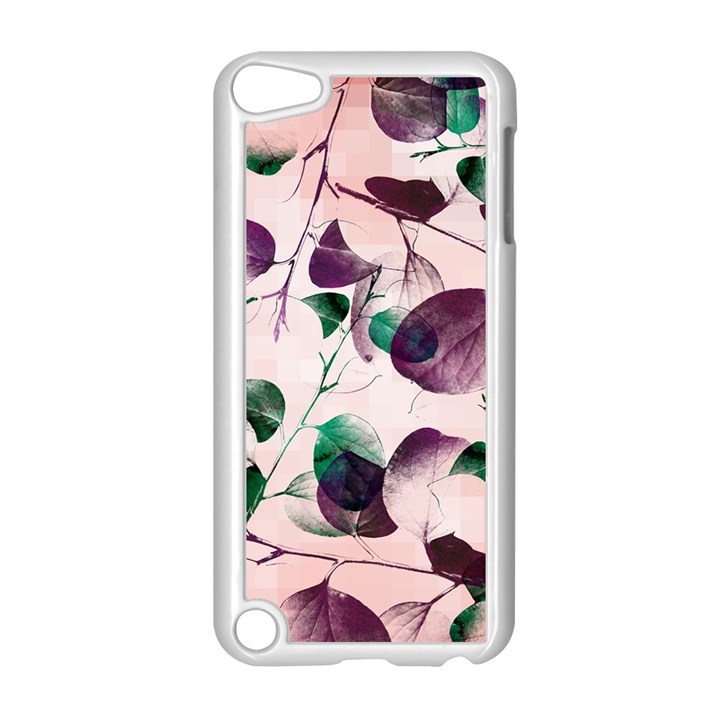 Spiral Eucalyptus Leaves Apple iPod Touch 5 Case (White)