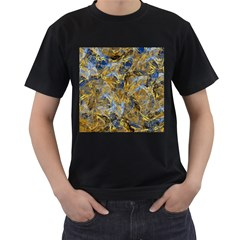 Antique Anciently Gold Blue Vintage Design Men s T Shirt (black) by designworld65