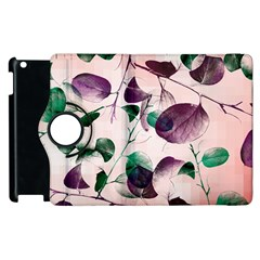 Spiral Eucalyptus Leaves Apple Ipad 3/4 Flip 360 Case