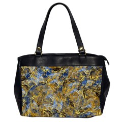 Antique Anciently Gold Blue Vintage Design Office Handbags (2 Sides)  by designworld65