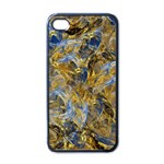 Antique Anciently Gold Blue Vintage Design Apple iPhone 4 Case (Black)