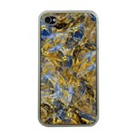 Antique Anciently Gold Blue Vintage Design Apple iPhone 4 Case (Clear)