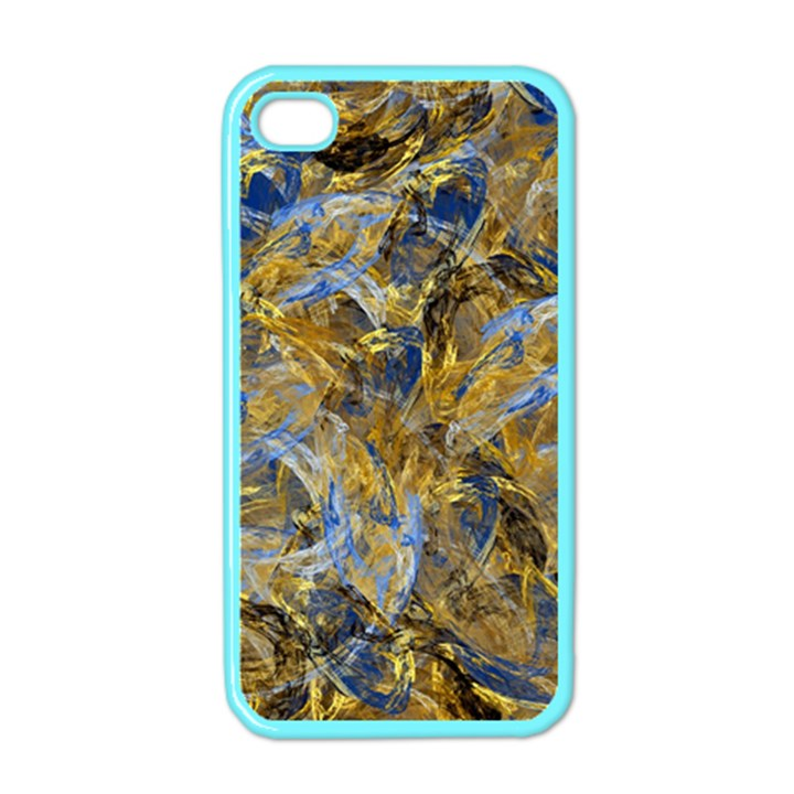 Antique Anciently Gold Blue Vintage Design Apple iPhone 4 Case (Color)