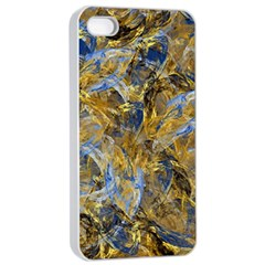 Antique Anciently Gold Blue Vintage Design Apple Iphone 4/4s Seamless Case (white) by designworld65