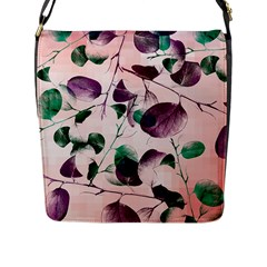 Spiral Eucalyptus Leaves Flap Messenger Bag (l)  by DanaeStudio