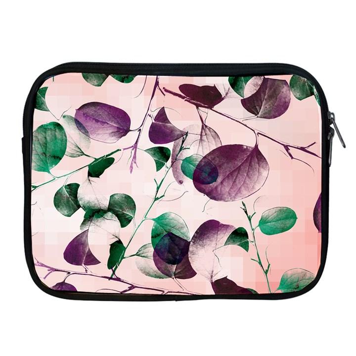 Spiral Eucalyptus Leaves Apple iPad 2/3/4 Zipper Cases