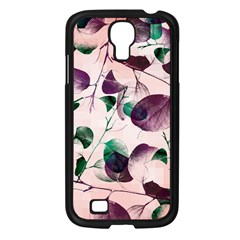 Spiral Eucalyptus Leaves Samsung Galaxy S4 I9500/ I9505 Case (black) by DanaeStudio