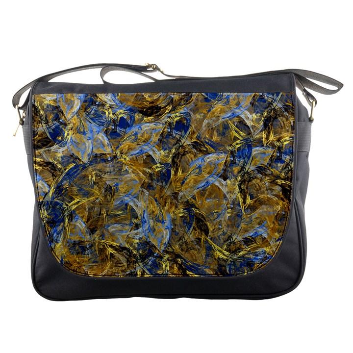 Antique Anciently Gold Blue Vintage Design Messenger Bags