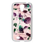 Spiral Eucalyptus Leaves Samsung GALAXY S4 I9500/ I9505 Case (White)