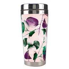Spiral Eucalyptus Leaves Stainless Steel Travel Tumblers by DanaeStudio