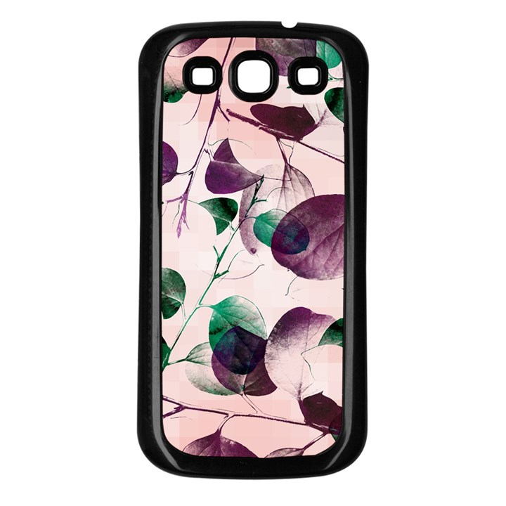 Spiral Eucalyptus Leaves Samsung Galaxy S3 Back Case (Black)