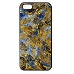 Antique Anciently Gold Blue Vintage Design Apple iPhone 5 Seamless Case (Black)