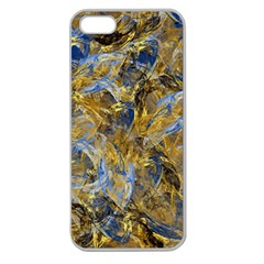 Antique Anciently Gold Blue Vintage Design Apple Seamless Iphone 5 Case (clear)