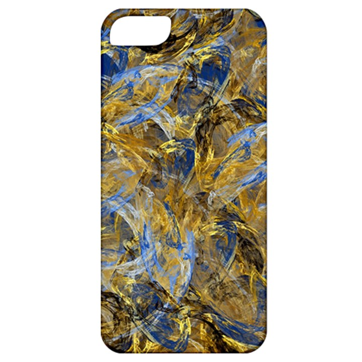 Antique Anciently Gold Blue Vintage Design Apple iPhone 5 Classic Hardshell Case