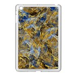 Antique Anciently Gold Blue Vintage Design Apple iPad Mini Case (White)
