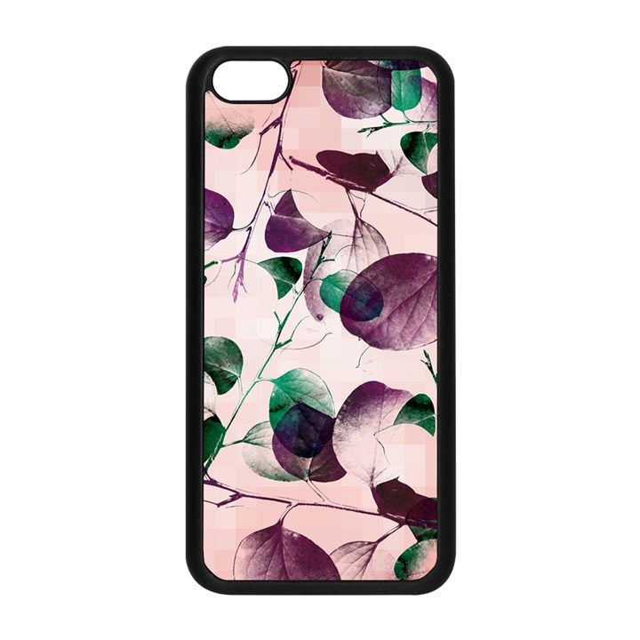 Spiral Eucalyptus Leaves Apple iPhone 5C Seamless Case (Black)