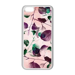 Spiral Eucalyptus Leaves Apple Iphone 5c Seamless Case (white) by DanaeStudio