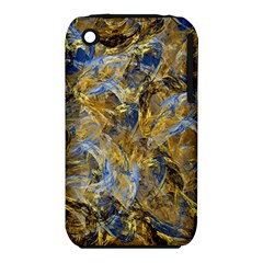Antique Anciently Gold Blue Vintage Design Apple Iphone 3g/3gs Hardshell Case (pc+silicone) by designworld65