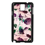Spiral Eucalyptus Leaves Samsung Galaxy Note 3 N9005 Case (Black)