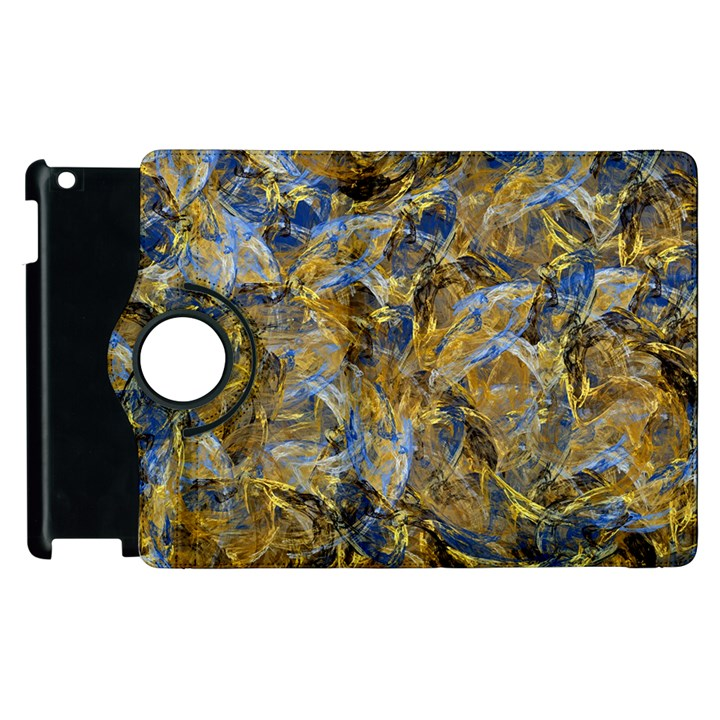 Antique Anciently Gold Blue Vintage Design Apple iPad 2 Flip 360 Case