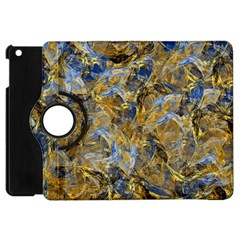 Antique Anciently Gold Blue Vintage Design Apple Ipad Mini Flip 360 Case by designworld65