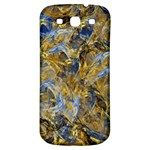 Antique Anciently Gold Blue Vintage Design Samsung Galaxy S3 S III Classic Hardshell Back Case Front