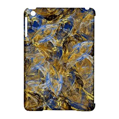 Antique Anciently Gold Blue Vintage Design Apple Ipad Mini Hardshell Case (compatible With Smart Cover) by designworld65