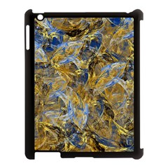 Antique Anciently Gold Blue Vintage Design Apple Ipad 3/4 Case (black) by designworld65