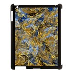 Antique Anciently Gold Blue Vintage Design Apple iPad 3/4 Case (Black)