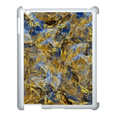 Antique Anciently Gold Blue Vintage Design Apple Ipad 3/4 Case (white) by designworld65