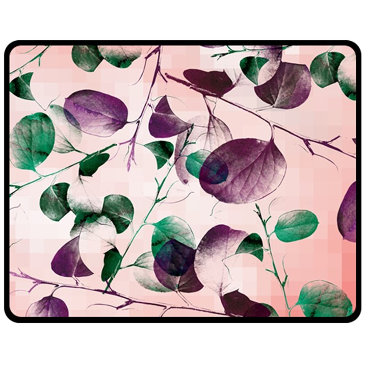 Spiral Eucalyptus Leaves Double Sided Fleece Blanket (Medium)