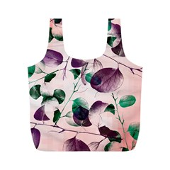 Spiral Eucalyptus Leaves Full Print Recycle Bags (m)  by DanaeStudio