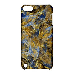 Antique Anciently Gold Blue Vintage Design Apple Ipod Touch 5 Hardshell Case With Stand by designworld65