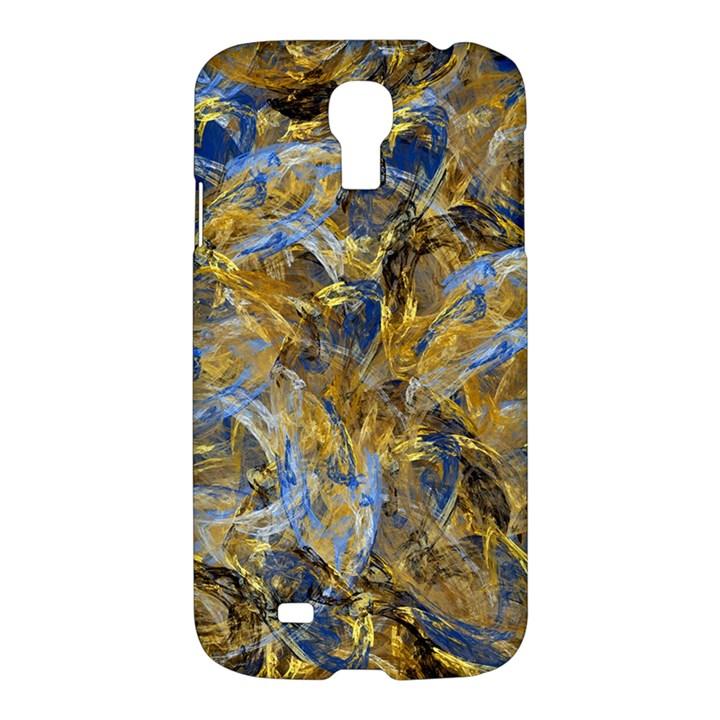 Antique Anciently Gold Blue Vintage Design Samsung Galaxy S4 I9500/I9505 Hardshell Case