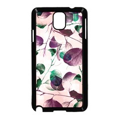 Spiral Eucalyptus Leaves Samsung Galaxy Note 3 Neo Hardshell Case (black)