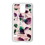 Spiral Eucalyptus Leaves Samsung Galaxy S5 Case (White)
