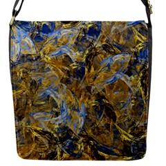 Antique Anciently Gold Blue Vintage Design Flap Messenger Bag (s) by designworld65